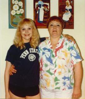With my Mom in 1987