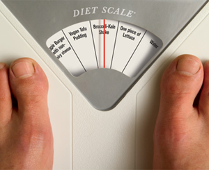 bathroom scale says what to eat